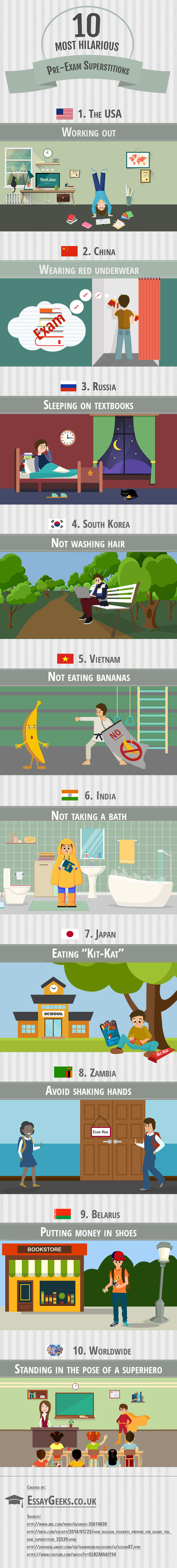 infographic 10 most hilarious pre-exam superstitions